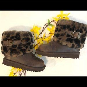 e174c9ad065 Girls UGG Ellee Stout animal print boots